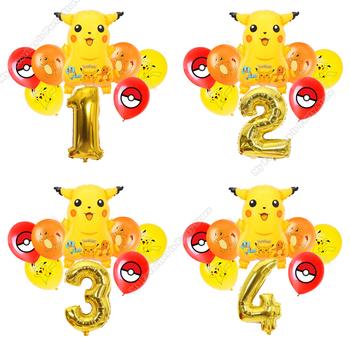 Pikachu balon połączenie urodziny dzieci Party Pokemon Boy gry dla dzieci Party Decor balon perła lateksowa dekoracja prezent dla dorosłych tanie i dobre opinie TAKARA TOMY CN (pochodzenie)