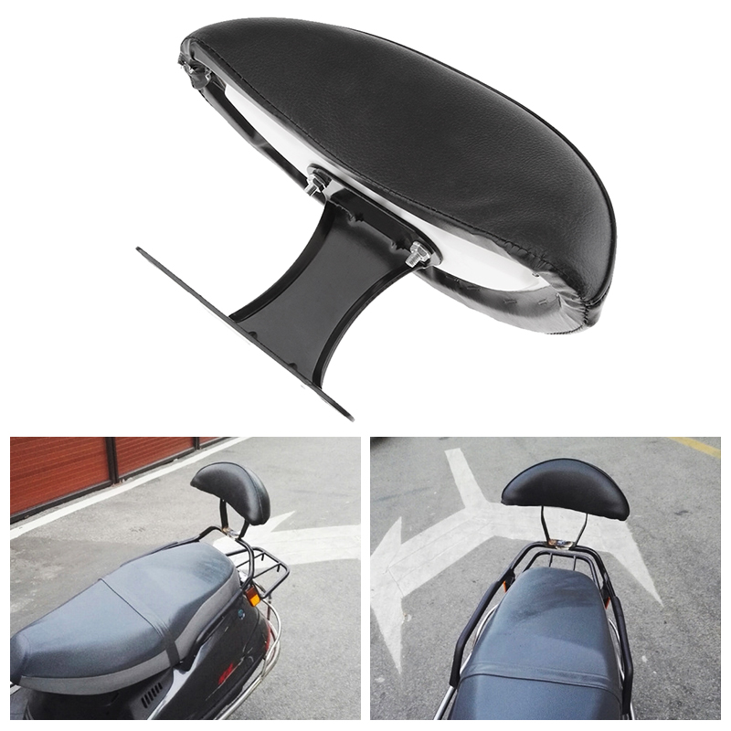 Image 5 - 1 Pcs Universal Motorcycle Passenger Seat Rear Back Pad Backrest Pad  For Motorcycle Scooter Etc Black Motorcycle Accessories-in Covers & Ornamental Mouldings from Automobiles & Motorcycles