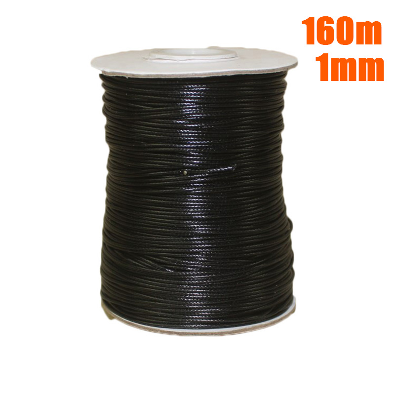 1*Waxed Cord Roll Waxed Cotton Cord Wire Beading Macrame String Jewelry DIY Craft 1mm/2mm for home diy tools parts