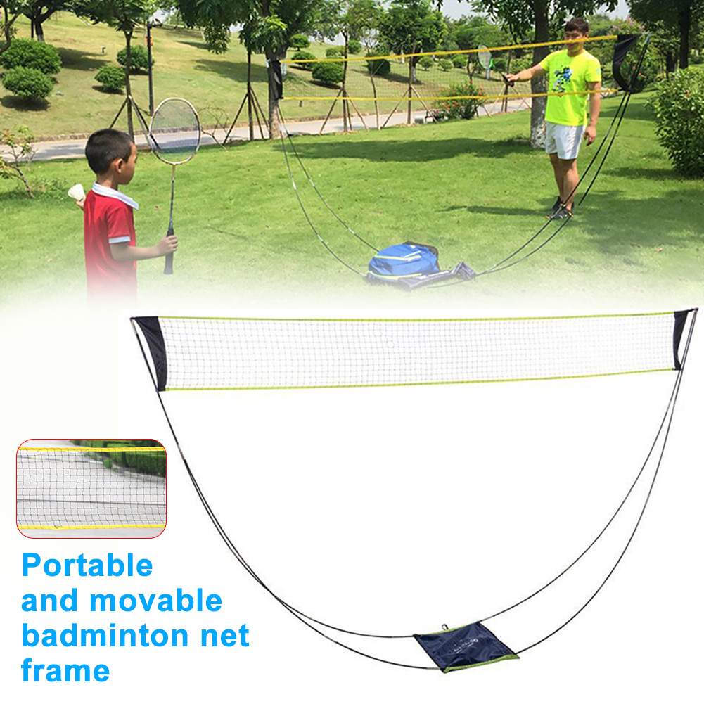 Badminton Net Beach Sports With Stand Mesh Tennis Exercise Kids Adult Accessories Indoor Outdoor Removable Portable Competition
