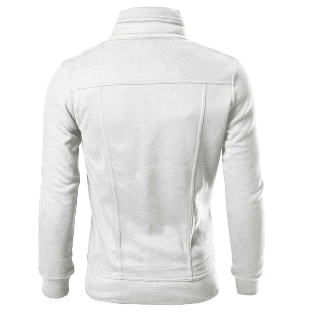 지퍼 남성 자켓 가을 겨울 캐주얼 양털 코트 폭격기 자켓 스탠드 칼라 패션 남성 아웃웨어 s-lim and fits jacket