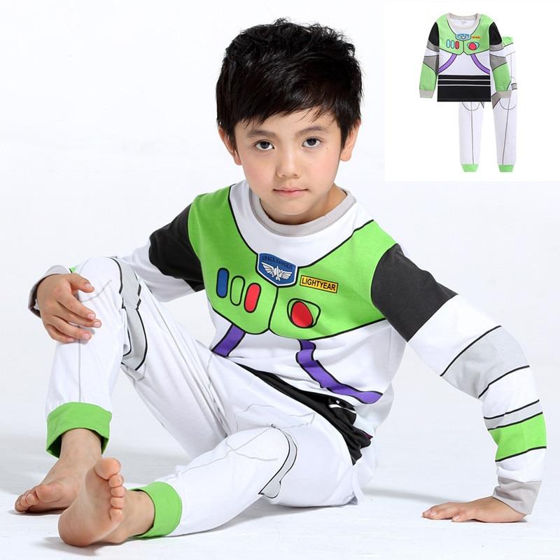 Nature Cotton Toy Story Children Buzz Lightyear Costume Boy Buzz Homewear Boy Buzz Loungewear Kid's Summer Pajamas Tracksuit