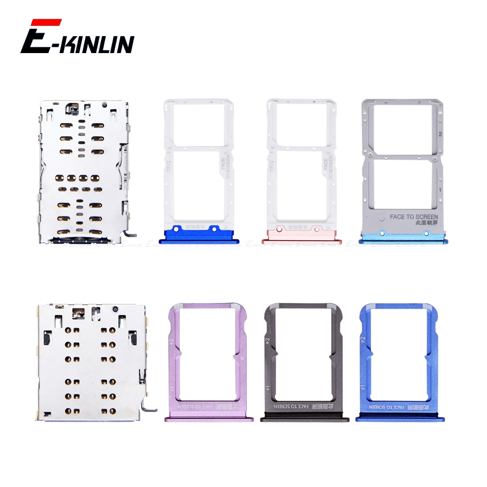 Sim Card / Micro SD Card Tray Socket Holder Slot Container Connector Adapter Reader Replacement Parts For XiaoMi Mi 9T 9 Lite SE