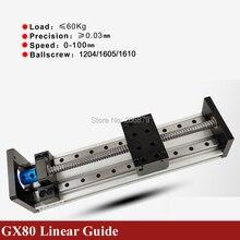 500mm 600mm etkili seyahat İnme 1605 1610 Ballscrew 16mm doğrusal kılavuz hareket modülü ray masa CNC 3D yazıcı Z ekseni c profil