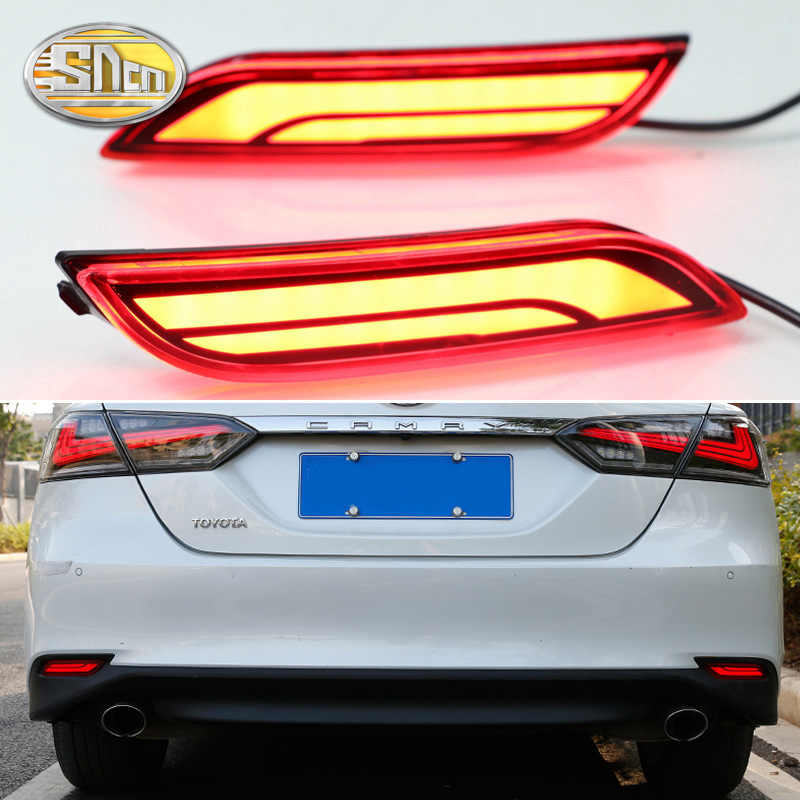 Voor Toyota Camry Se XV70 2018 2019 Multi-Functies Auto Led Mistachterlicht Bumper Brake Light Auto richtingaanwijzer Reflector