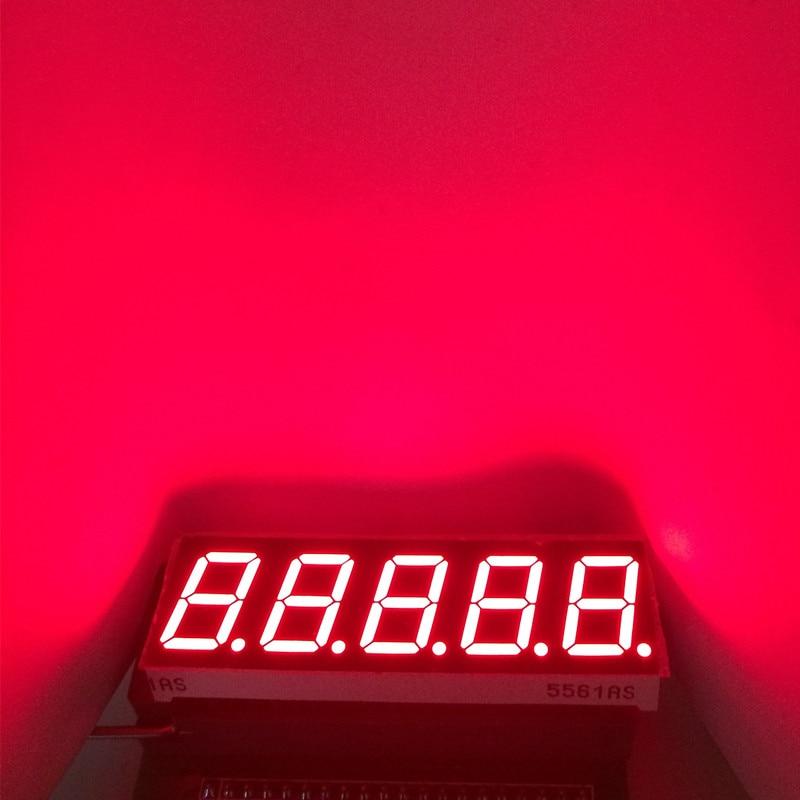 "5pcs 0.56inch 1/2/3/4/5 Bits Digit LED Display Digital Module 7-Segment Tube 1 2 3 4 5 Digits 0.56"" Red 7 Segments Display CC CA"