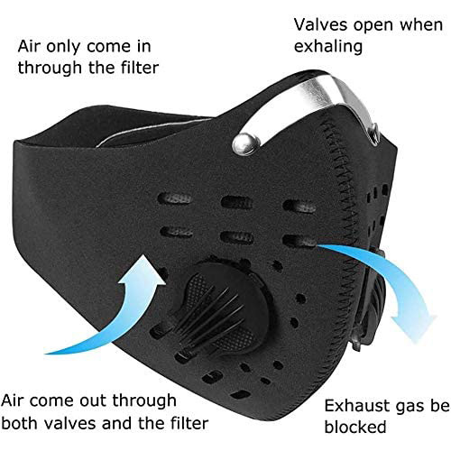 Anti Dust Face Mask Anti-Pollution With Filter mask Activated Carbon PM 2.5 Sports Cycling Outdoor Running face Filter mask 3