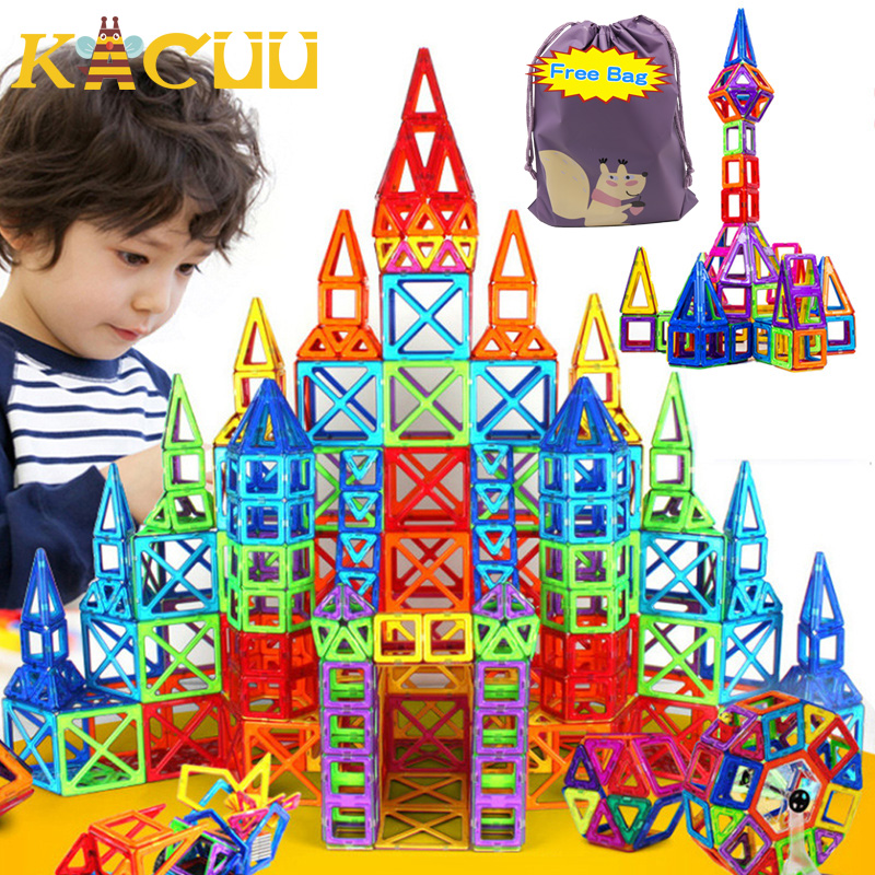 184pcs-110pcs Mini Magnetic Designer Construction Set Model & Building Toy Plastic Magnetic Blocks Educational Toys For Kid Gift