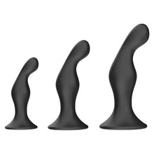 3Pcs/set Anal Plug Silicone Material BDSM Couples Masturbation Fetish Adults Sex Stimulate Climax Femdom Erotic Toys Anal Plugs(China)