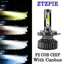 Ztzpie 12v led 3000k 4500k 6000k 8000k 12000lm 9005 h1 h4 led farol h3 h7 h11 9006 canbus lâmpadas led super brilhante luz 2 pçs