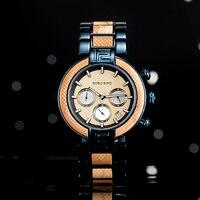 BOBO BIRD drewniany zegarek mężczyźni Stopwatches reloj hombre Handmade drewniany zegarek męski kwarcowy prezent dla Dropshipping