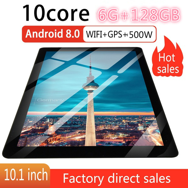 Newest WiFi Tablet PC 10.1 Inch Ten Core 4G Network Android 8.0  Dual SIM Dual Camera 4G Call Phone Tablet Gifts(RAM 6G+ROM128G)