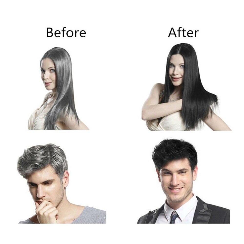 10pcs Instant Black Hair Shampoo Hair Dye 5 Minutes Make Grey White Hair Colored Darkening Black Shinny Hair Styling Dropship 3