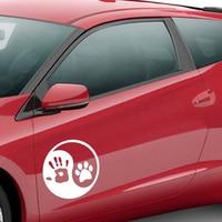 Dog Hand Car Sticker 5
