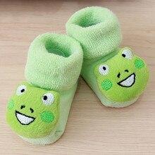 Cute Baby Socks Cartoon Newborn Kids Baby Girls Boys Anti-Slip Warm Socks Slipper Shoes Boots