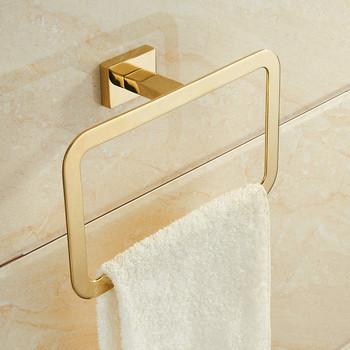Pierścienie ręcznik łazienka do montażu na ścianie uchwyt na ręczniki złota chrom wieszak na ręczniki wieszak na ręczniki wieszak na ręczniki budowa łazienka akcesoria do kąpieli tanie i dobre opinie YXLSOAR Cynk-stop BB-QQ-685 Polished