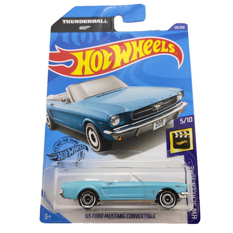 2020-59 Hot Wheels 1:64 Car 65 FORD MUSTANG CONVERTIBLE Metal Diecast Model Car Kids Toys Gift