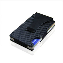 Card Holder Metal Mini Money Clip Brand 2020 Fashion Carbon Fiber Black Silver Credit Card ID Holder With RFID Anti-chief Wallet(China)
