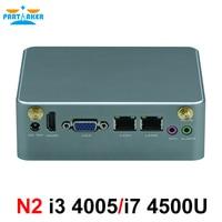Partaker N2 Intel Core i3 4005U i7 4500U Nano PC dual ethernet nic pfsense intel NUC mini pc desktop server