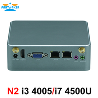 Partaker N2 Intel Core i3 4005U i7 4500U Nano PC dual ethernet nic pfsense intel NUC mini pc desktop server