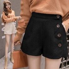 Milinsus Autumn Winter 2019 Women Short Multi-button Sexy Plain Thickening Korean Fashion High Waist Shorts Female