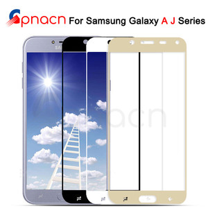 Image 1 - 9D Protective Glass on the For Samsung Galaxy J3 J5 J7 A3 A5 A7 2016 2017 S7 Full Cover Tempered Screen Protector Glass Film