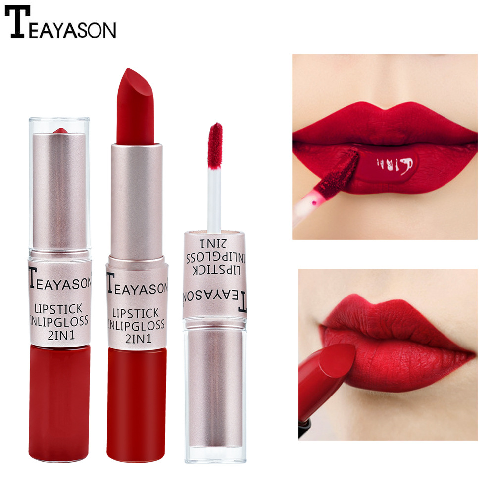 Lipstick Waterproof Long Lasting Matte Velvet Beauty Lip Gloss Lip Gloss Beauty Red Lip Tint Makeup Pigments Cosmetics