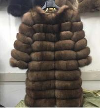 Nowe naturalne prawdziwe futro z lisów zimowych kobiet w dłuższym stylu oryginalna kurtka z prawdziwego futra kobiet Quali-1ty 100 prawdziwe futra lisa futrzane płaszcze-jaon tanie tanio Faux futra CN (pochodzenie) Zima Fur faux futra Szerokie w talii Natural color WOMEN HIP HOP REGULAR Grube ciepłe futro