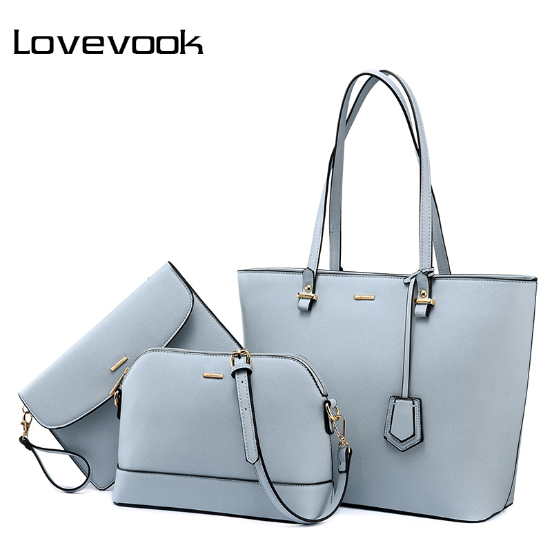 LOVEVOOK Bag Set Shoulder Corssobody Bags For Women Handbag High Quality PU Female Messenger Bags Ladies Purse School Bag 2018