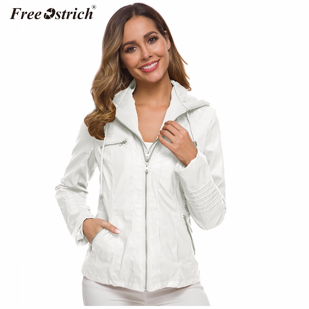 Free Ostrich Lady   Jackets   Women Zipper   Jacket   Female Autumn Silm Long Sleeve   Basic     Jackets   Outwear Coats Streetwear   Jacket   N30