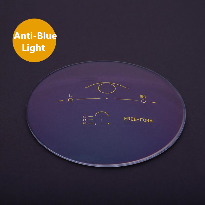 1.56 1.61 1.67 Anti-blu-ray dans les lentilles progressives intelligentes multi-focales en résine lentilles multifocales myopie presbytie