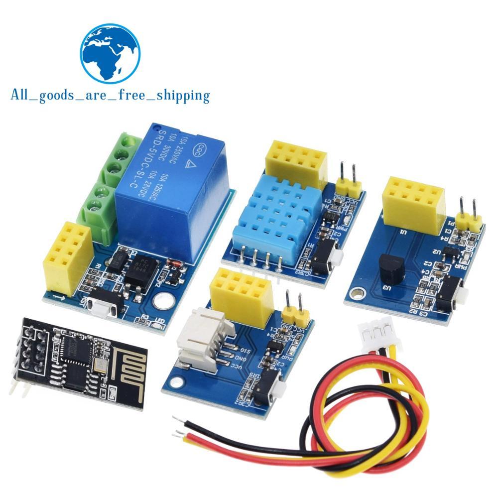 ESP8266 5V WiFi relais module DS18B20 DHT11 rvb LED de contrôle choses smart home télécommande commutateur téléphone APP ESP 01S relay module module 5vwifi module - AliExpress