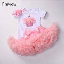 6-24m bebê meninas tutu roupas conjunto branco bodysuit pettiskirt aniversário outfits infantil 1st festa com bandana terno para meninas do bebê