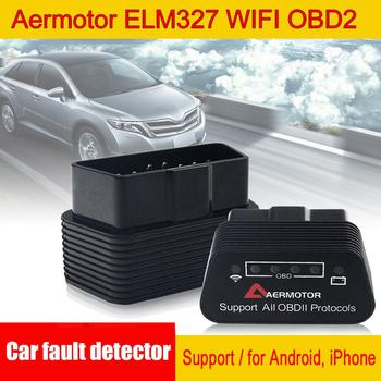 Car Fault Detector Scanner Aermotor ELM327 WIFI OBD2 Support Android Car Diagnostic Adapter Suitable for Android & IOS