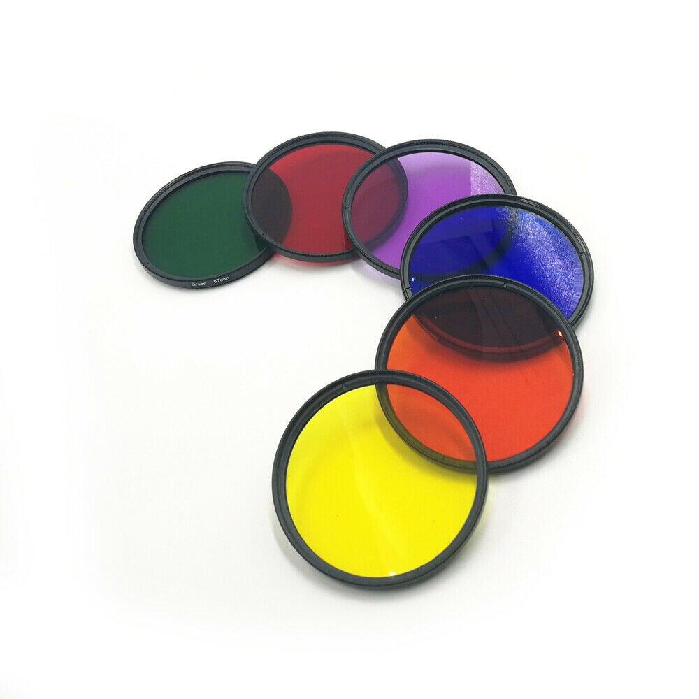 Nuevo 37 40,5 43 46 49 52 55 58 62 67 72 77 82mm DSLR Cámara lente rojo naranja amarillo verde azul púrpura Color filtro para Canon