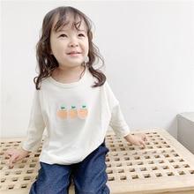 Girls t-shirt new autumn kids t-shirt in 2019 Girls Korean print T-shirts with long sleeves Cotton girls tops стоимость