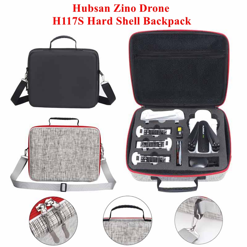Hubsan Zino Travel Portable Shoulder Bag Hard Shell Backpack Storage Bag Kit Case For Hubsan X4 Zino H117S RC Drone Accessories