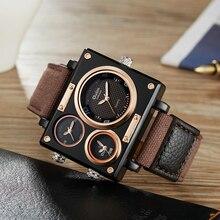 OULM مشاهدة الرجال العلامة التجارية الفاخرة كوارتز ساعة الإبداعية ساعات رياضية غير رسمية حزام نايلون ساعة اليد الذكور مقاوم للماء الأكثر مبيعا