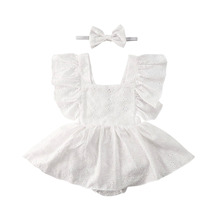 Baby Girl Rompers Ruffles Tutu Jumpsuit Clothes