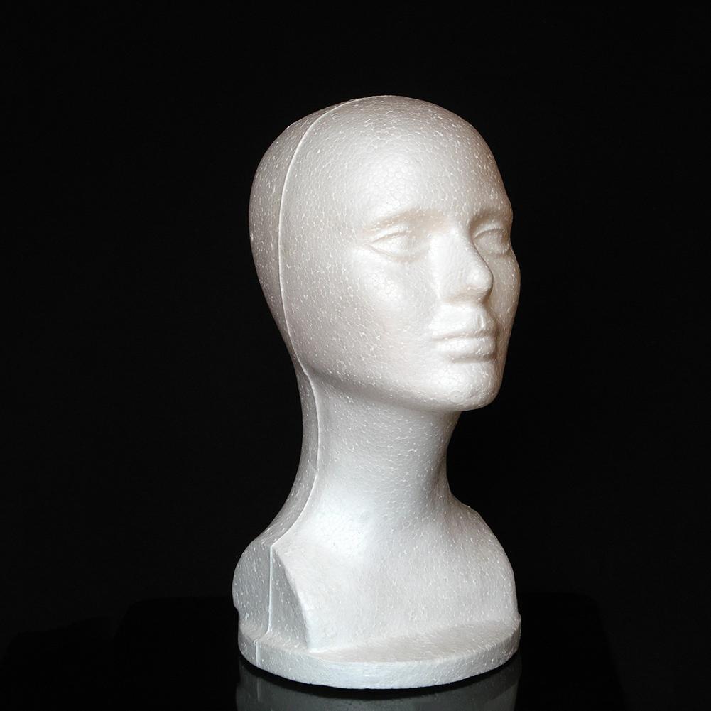 Female Foam  Training Head Mannequin Manikin Head Model Shop Wig Hair Jewelry Display Stand Hair Styling Accessories