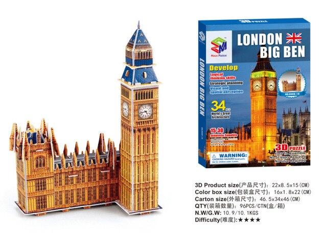 Tourist souvenirs world famous building model three dimensional early education 3D jigsaw puzzle Castle children's toys paper 6