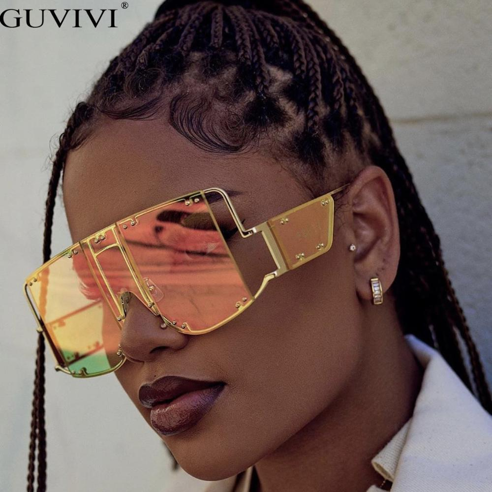 Oversized Sunglasses Women 2019 Sunglasses Men Vintage Sunglasses Luxury Retro Square Mens Sunglass Rihanna  Sun Glasses
