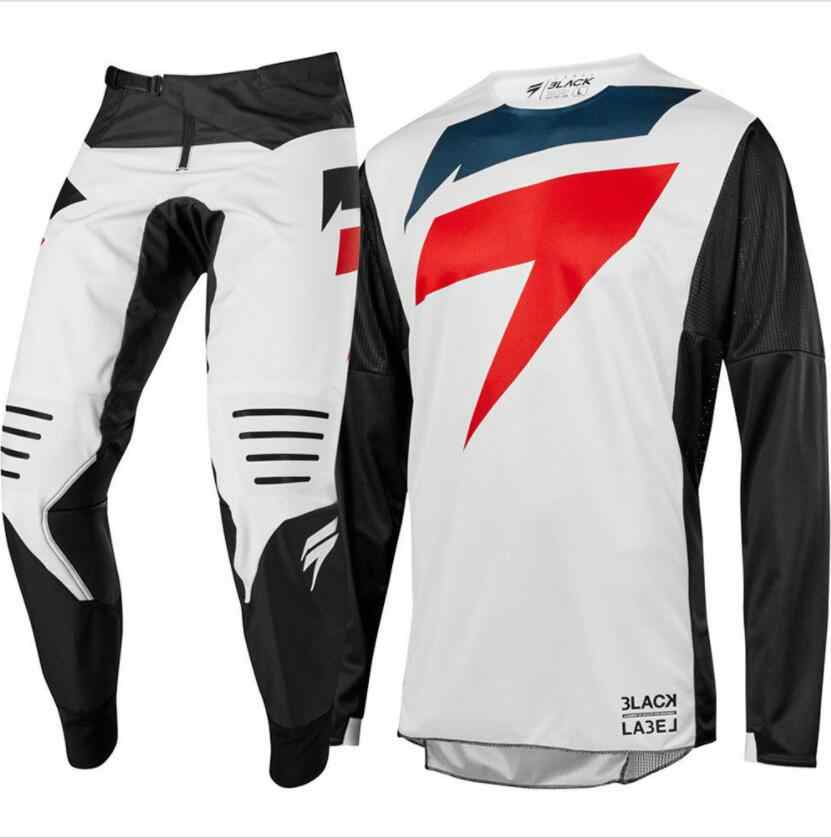 Nouvelle étiquette de course pour la Collection de pantalons et de Jersey Combo ensemble de vitesse de Motocross ensemble de vêtements de course costume de Motocross costume S-XXL