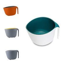 Двойная корзина для слива чаша мытья риса кухонная раковина