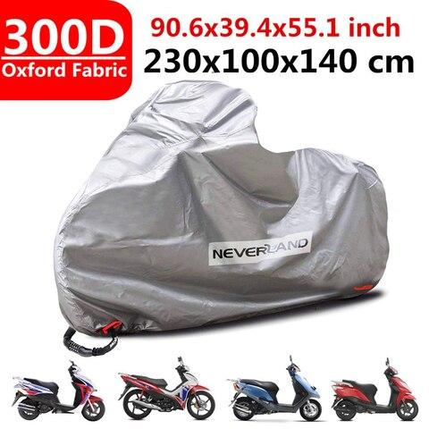 capa protetora para motocicleta capas de tecido oxford 300d a prova de chuva preto com