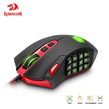 Redragon Perdition M901 USB Gaming Mouse Wired RGB Backlight 12400 DPI 19 Buttons Programmable Optics Mice For Computer Gamer PC