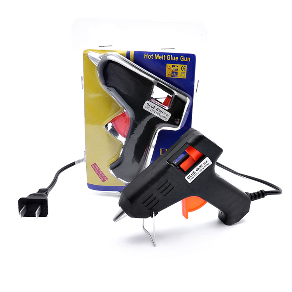 20W EU Plug US Plug Melt Glue Gun Industrial Mini Guns Thermo Electric Heat Temperature Tool With 10pcs 7mm X 190mm Glue Stick