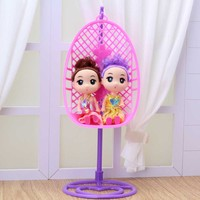 Funny Plastic Swing Chair Toys Doll House Accessories for Barbie Dolls Children Girls Birthday Xmas Gifts