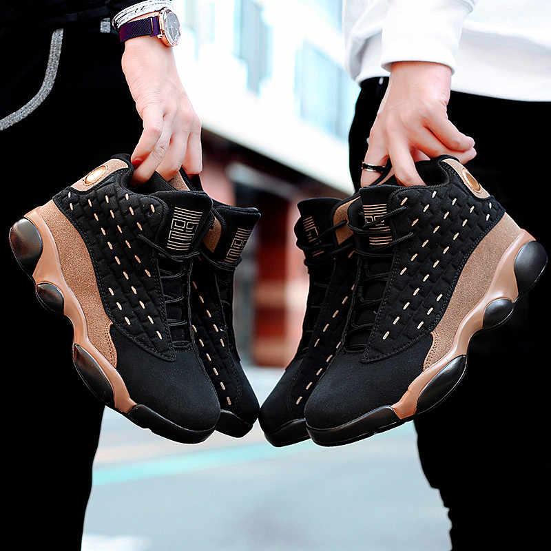 Sonbahar ve kış kalınlaşma yüksek erkekler ve kadınlar basketbol ayakkabıları nefes gündelik erkek ayakkabısı kaymaz Zapatillas Hombre35-46