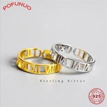 Женские кольца с римскими цифрами pofunuo минималистичные Открытые